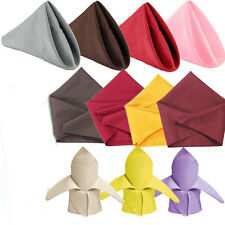 EG_ 19'' Square Solid Color Napkin Wedding Dinning Restaurant Table Decor Fashio