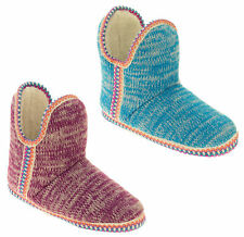 Womens Coolers Knitted Warm Lined Winter Boot Slippers Size UK 3 4 5 6 7 8