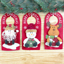 EG_ Santa Claus/Snowman/Elk Door Hanging Christmas Home Decor Ornaments Xmas Gif