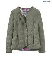 Joules Women's Gisella Collarless Quilted Jacket - Soft Khaki W_GISELLA