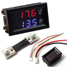 DC 100V VOLTMETRO Ammeter LED DOPPIO DISPLAY DIGITALE VOLT AMPERE