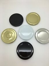100 x 58mm Twist Off Jam Jar Lid in choice of colours
