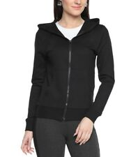 First Row Solid Cotton Regular Fit Plain Hoodies for Women
