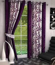 Optimistic Home Furnishing Polyester Floral Eyelet Door Curtain - IKI