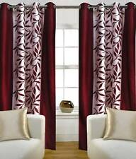 Optimistic Home Furnishing Polyester Floral Eyelet Door Curtain - IP7
