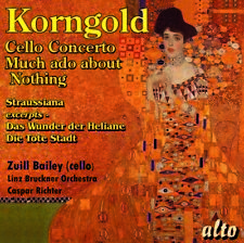 Korngold: Cello Concerto Much Ado About Nothing - Caspar Linz Br (2018, CD NEUF)