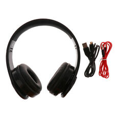 Wireless Bluetooth Pieghevole Auricolare Stereo Headphone con Microfono per Bici