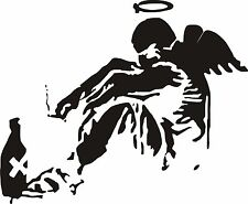 Banksy wall art sticker fallen angel graffiti