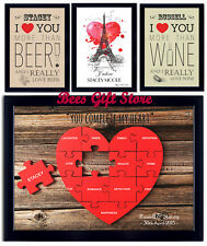 Personalised ROMANTIC Valentines POSTER Gift Ideas For COUPLE Wedding Day Her