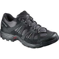 Mens Salomon Astek Walking Hiking Grey Black Lace Up Shoes