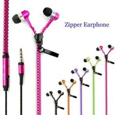 Universal Stereo 3.5mm in-Ear Earphone Earbuds Headphone + Mic Zipper Headset GP