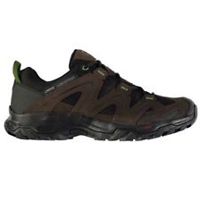 Mens Salomon Vandom 2 GTX Walking Hiking Shoes Brown Green Lace Up Trainers