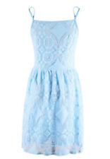 Ladies Cami Strappy Lace Dress Women's Party Fashion Sleeveless Dresses UK 6-12