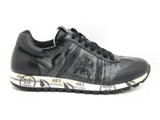 Premiata Lucy women's with upper black leather with inserts black velvet/silver