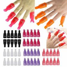 UV Gel 5 Pcs Plastic Nail Soak Off Art Polish Remover Wrap Polish Clip Cap UK