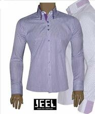 MATRIMONIO Casual Club Jeel CAMICIA UOMO SLIM-FIT Arredata a righe BODY-FIT
