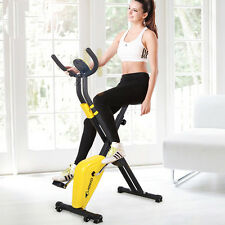 Health Folding Magnetic Exercise Bike Home Gym Workout Aerobic Fitness Machine