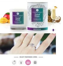 Imperial Candles Tropical Dreams Deluxe 70hr Soy Surprise Jewellery Jewel Candle