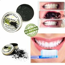 Hot Teeth Whitening Powder Natural Organic Activated Charcoal Bamboo ToothpasFI