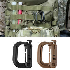 Outdoor Tactical Gear Carabiner Backpack Keychain D-Ring Spring Snap Clip FFI
