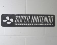 Super Nintendo Logo Game gaming wall Art Solid Steel Metal hand finished mild