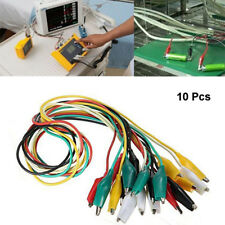 10 Pcs Crocodile Alligator Clips Cable Electrical DIY Jumper Leads Testing Wire