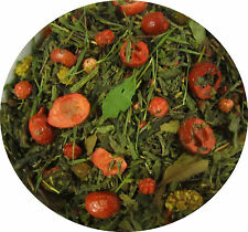 GREEN BERRY FEAST -Premium Quality Green and white  Loose Leaf Tea Free Delyvery