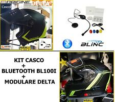 KIT CASCO JET +INTERFONO BLUETOOTH UNIVERSALE + MODULARE DELTA CON BLUETOOTH