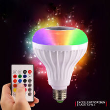 12W E27 LED RGB Wireless Bluetooth Music Play Speaker Bulb Light Lamp+Remote
