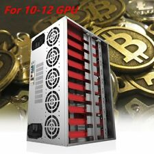 Crypto Coin Miner Frame Open Air Mining Rig Case For12GPU ETH/BTC/Bitcoin LotAC