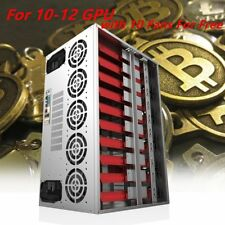 Crypto Coin Open Air Mining Frame Rig Graphic Case For 12 GPU ETH/BTC Lot FN
