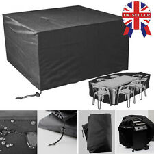 STRONG OUTDOOR RECTANGULAR FURNITURE WATERPROOF COVER RATTAN WICKER RAIN COVER