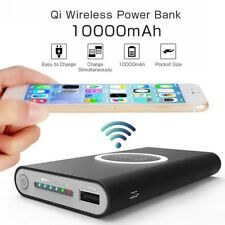 10000mAh Qi Wireless Charger Power Bank WiFi For Samsung Apple Phones HTC GoPro
