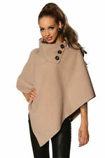 Poncho pull boléro cardigan cape pull boutons 3 couleurs 36 38 40 S M L