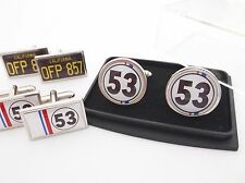 HERBIE 53 BEETLE VW amour INSECTE plaque d'immatriculation BADGE hommes