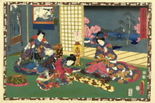Japanese Print Chapter 53 Kunisada I by Murata Heiemon 1852 b Art