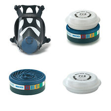 MOLDEX Series 9000 Full Face Mask, Moldex EasyLock Gas Particulate Filters