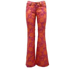 8412U pantalone donna CUSTO BARCELONA orange pant trouser woman