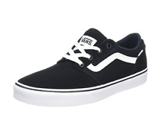 718287fbef VANS Shoe Chapman Stripe Suede Canvas Black Sneaker Skate Old Skool Styling  New