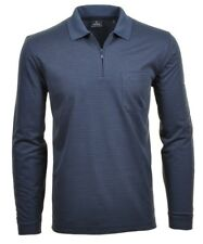 Ragman Jersey de hombre camiseta polo manga larga Easy Care 5462892 Azul