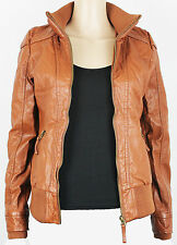 """Blind Date Casual Donna Pelle Giacca Blazer """"Authentic Life """"MARRONE XS-XL"""