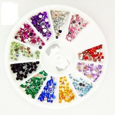 CARROUSSEL 3D STRASS ROND MULTICOLORE ONGLE NAIL ART NEUF ONG031