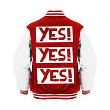 WWE Daniel Bryan Yes! Yes! Yes! Logo Official Varsity Jacket (Red) Wrestling