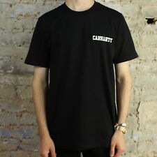 Carhartt S/S College Script T-Shirt – Black/White Brand New in M,L