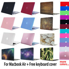 Rubberized Shell Case Cover for Macbook Air 11 13 inch + Keyboard Cover
