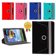 360° Rotating Leather Tablet Book Flip Flap Cover For iBall Slide 6351-Q400i