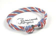 mujeres-hombres-niños Paracord armband-old glory-surfer Pulsera ajustable