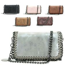 Ladies Chain Edge Clutch Bag Metallic Evening Bag Purse Fashion Handbag GN60527