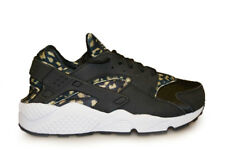 Womens Nike Air Huarache Run Print *RARE* - 725076 007 - Black Khaki White Train