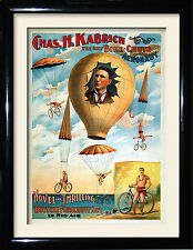 circus advertising Posters and framed pictures,The Bike Chute